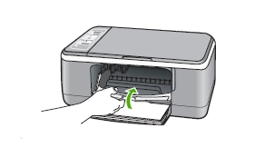 how to replace an empty ink cartridge in the hp deskjet. Black Bedroom Furniture Sets. Home Design Ideas