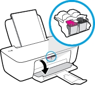 hp deskjet ink advantage 1115 printer how to replace ink cartridges 05
