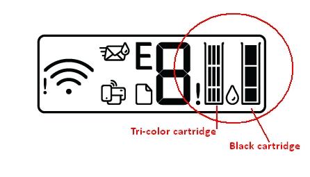 hp deskjet plus 4132 replace the ink cartridges 01