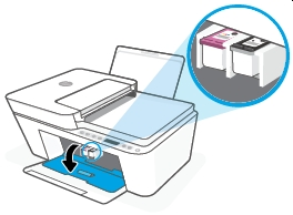 hp deskjet plus 4140 replace the ink cartridges 05