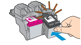 hp deskjet plus 4140 replace the ink cartridges 11