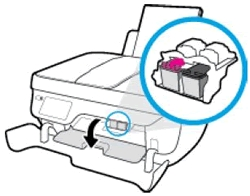 hp officejet 3836 replace the ink cartridges 07