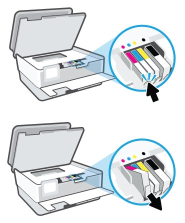 hp officejet pro 8015 how to replace ink cartridges 05