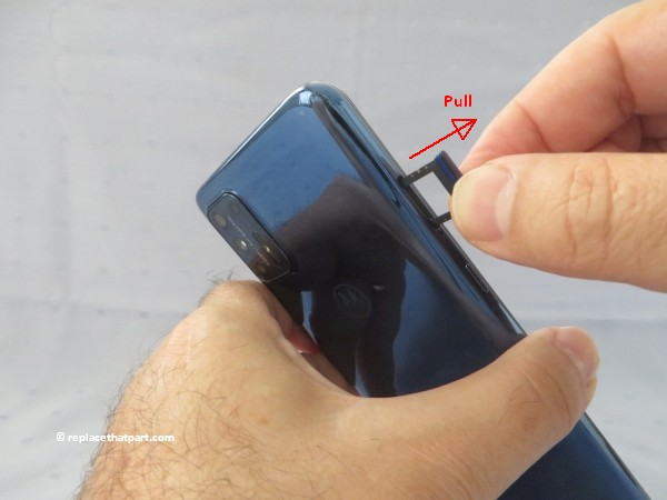motorola moto g9 plus how to insert or remove sim cards and sd memory card 07