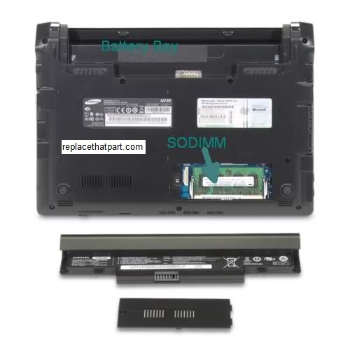 How to Upgrade the RAM Memory of the Samsung N230 Netbook ...